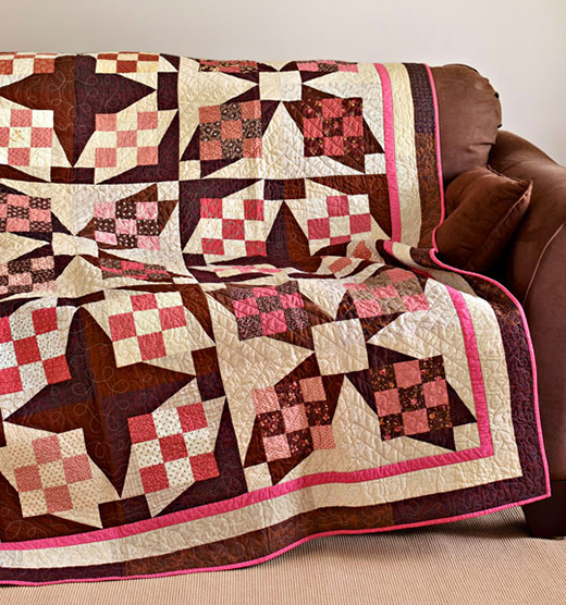 Tropical Crossing Quilt Free Pattern