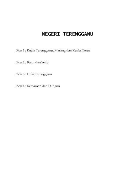 Jadual Waktu Imsak Dan Berbuka Puasa Negeri Terengganu 1442H