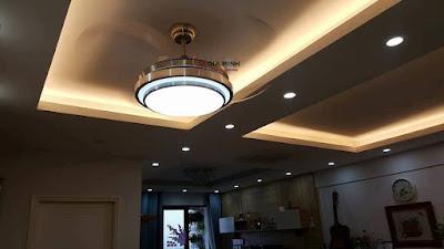 Quạt trần đèn trang trí GMT 0602 với thiết kế theo phong cách hiện đại