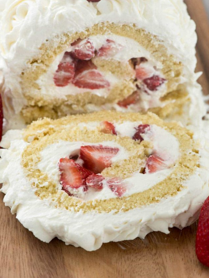 Strawberry Shortcake Cake Roll