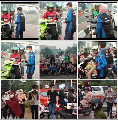 AMPATI Bagikan 2000 Masker Untuk Pengguna Jalan