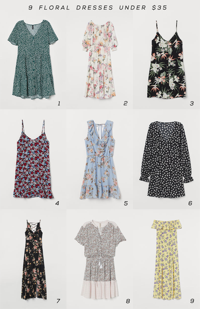 9 Floral Dresses for Summer (Under $  35!)