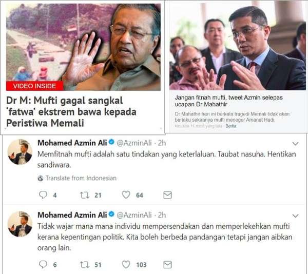 Tidak Wajar Perlekeh Mufti - Azmin Ali