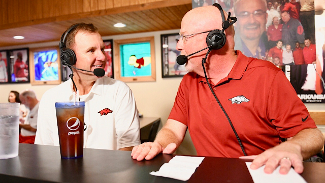 Razorback coach Chad Morris' radio show is live Wed. night with Ole Miss preview
