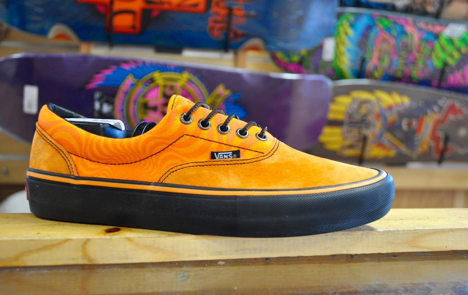 a7d450af3e Vans and spitfire have done a grip of great new Collab Shoes. This is the Era  Pro in a bright orange color way with a black vulc sole.