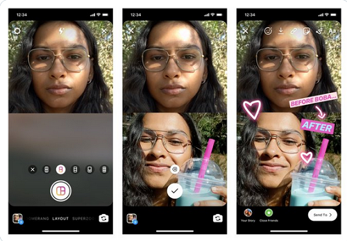 Now You can Share Multiple Photos on Your Instagram Stories with Layout