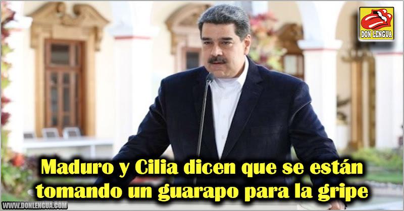 Maduro y Cilia dicen que se están tomando un guarapo para la gripe