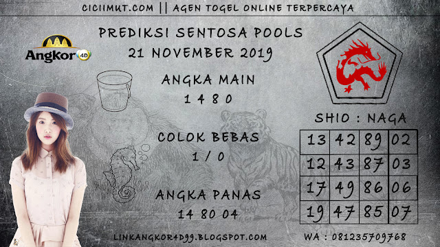 PREDIKSI SENTOSA POOLS 21 NOVEMBER 2019