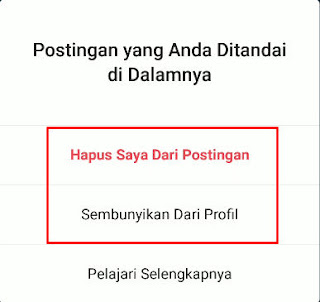 Menghapus Tag / Ditandai Di Instagram Orang Lain