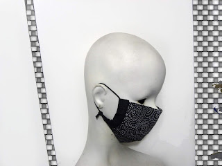 face mask, for men, women fashion, black white face mask,dots, polka dots, travel mask, dust mask, Etsy shop, Vesna Kolobaric