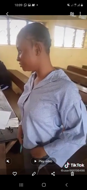 Lady in examination malpractice real picture