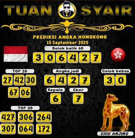 Prediksi Tuan Syair HK Selasa 15 September 2020