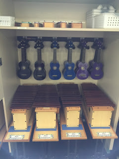 Creative Ukulele Storage for the Elementary Music Classroom + Rubbermaid FastTrack System