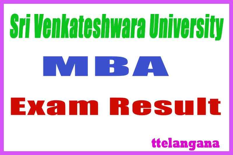 Sri Venkateshwara University SVU MBA Exam Results