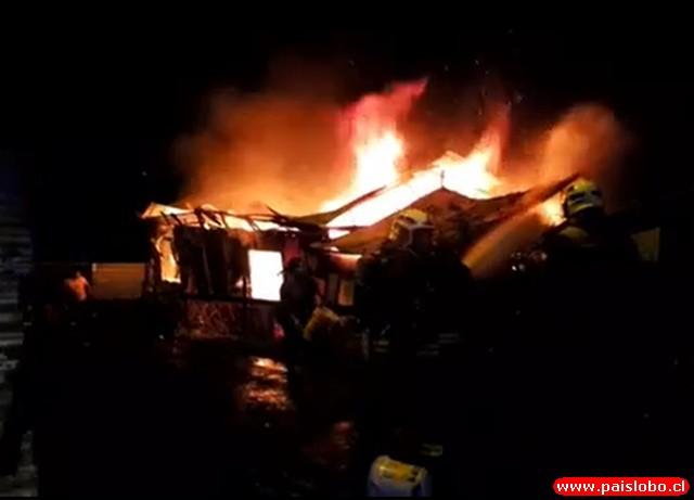 Vivienda destruida en Osorno