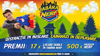 Castiga locuri duble în Tabara NERF + 10x Go Pro Hero 6 + 500X Premii Nerf