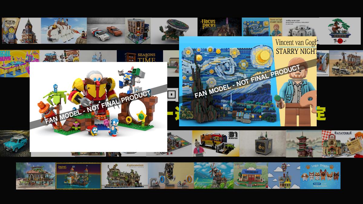 ゴッホとソニックが製品化決定!LEGOアイデア製品化35候補決定!どれが欲しい?2020年第2回1万サポート獲得デザイン