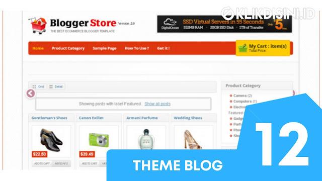 Template Blogger Toko Online Gratis - Template Blogger Responsive Premium Tanpa Cart