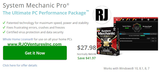 ystem Mechanic®  Fix & Speed Up Your PC Automatically™