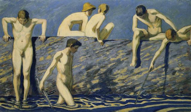 Nude Bathers (after 1937) Ludwig von Hofmann (German, 1861-1945)