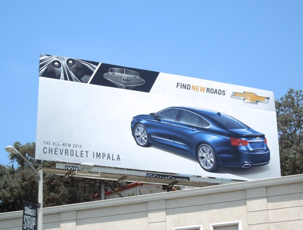 Chevrolet Impala 2014 Find New Roads billboard