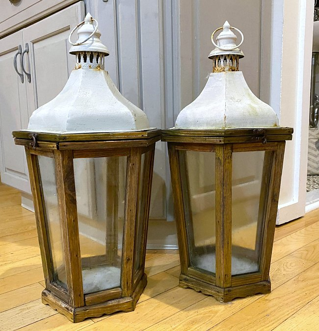 Two unpainted Christmas Lanterns