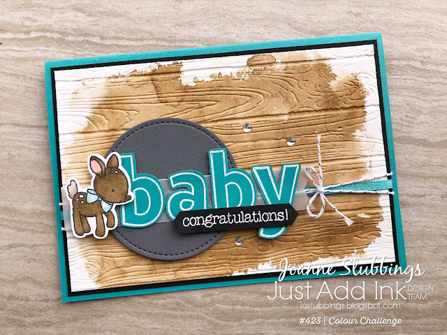 Jo's Stamping Spot - Just Add Ink Challenge #423 using Made With Love and Lined Alphabet by Stampin' Up!
