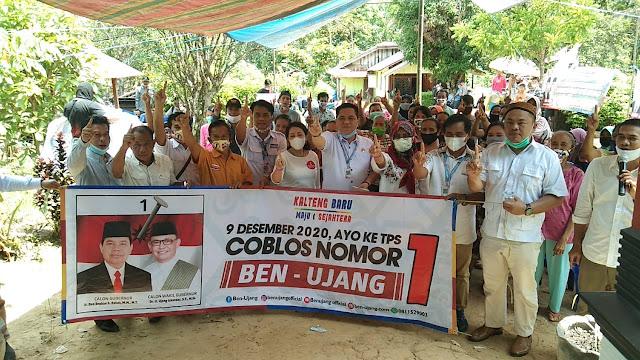 Ketua Partai Pengusung dan Pendukung Bersama Tim Relawan Kabupaten Barito Timur Terus Berjuang Sampaikan Visi Misi Ben - Ujang