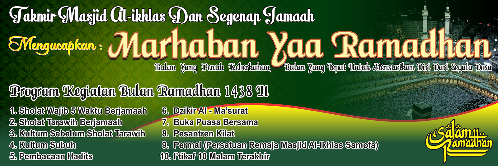 Spanduk Marhaban Yaa Ramadhan H