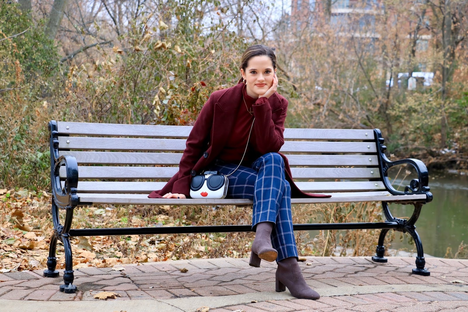 Nyc fashion blogger Kathleen Harper wearing an impressive Thanksgiving outfit idea.