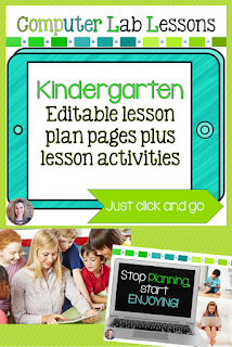 Kindergarten technology lesson plans and activities for the entire school year that will make a great supplement to your technology curriculum. These lesson plans and activities will save you so much time coming up with what to do during your computer lab time. Ideal for a technology teacher or a kindergarten teacher with mandatory lab time. All of the work is done for you!