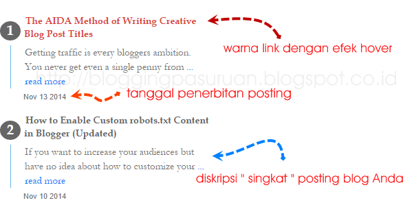 Cara Membuat Widget Recent Posts Responsive di Blogger