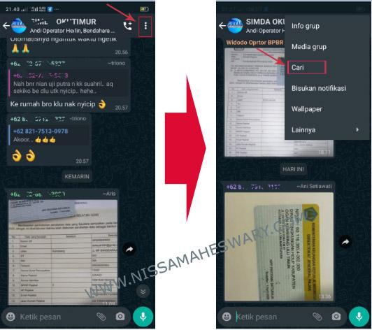 Cara Cepat Mencari Riwayat Chat atau Pesan WhatsApp