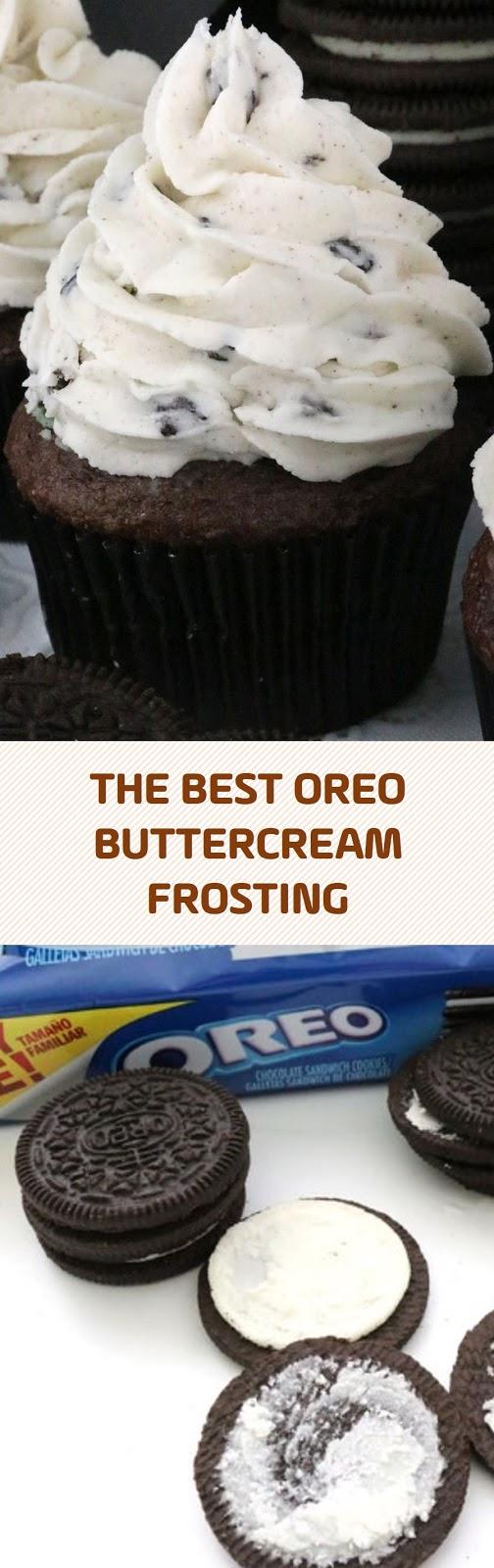 THE BEST OREO BUTTERCREAM FROSTING