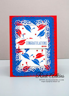 I Say Hello Stamp Set, Graduation Card, Rick Adkins, Stampin' Up!, Ornate Layers Dies, Stitched Rectangle Dies