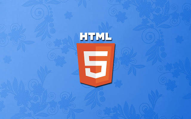 Blauwe HTML 5 wallpaper