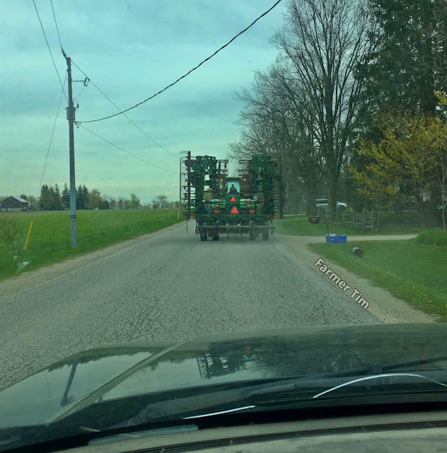 Tractor blocking the road
