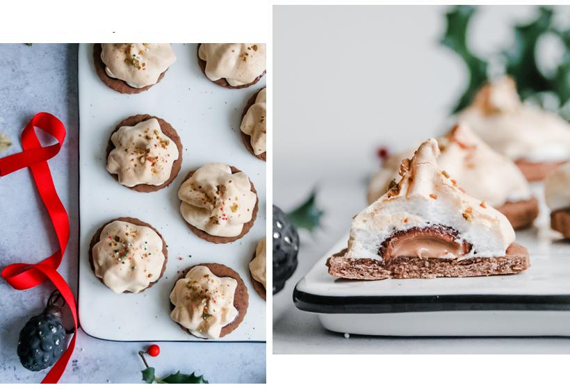 gefüllte Schokoladen-Baiser-Kekse