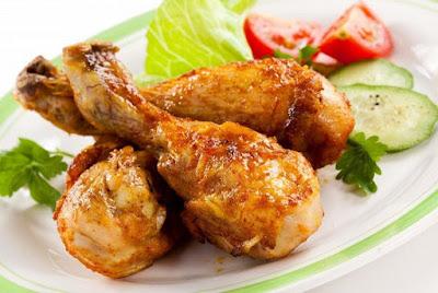 Курица в кефире в духовке картинка