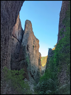 Sunrise lighting up the back canyon while in Maple Box Canyon