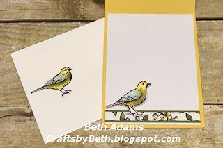 Free As A Bird Double Easel Card
