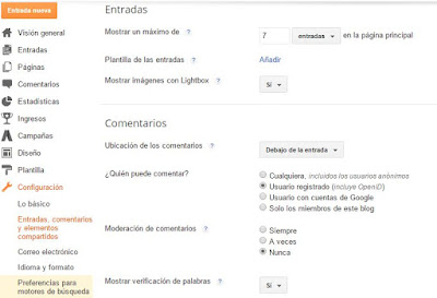 Configuracion Blogger - Tutorial