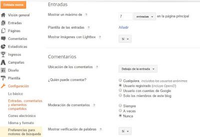 Configuracion Blogger - Tutorial