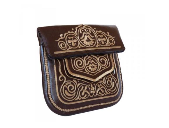 حقيبة جلدية امازيغية