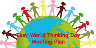 World Thinking Day Meeting Lesson Plan-quick and easy to follow!