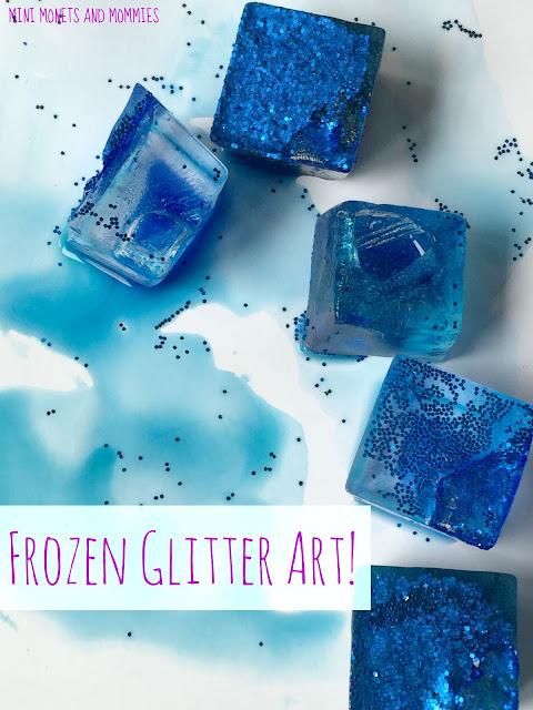 Frozen glitter art paint recipe