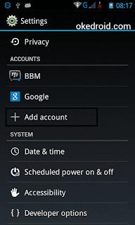 Setting di Perangkat Android
