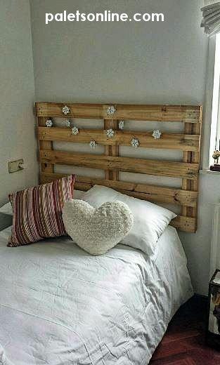 cbecero cama palet paletsonlinecom - Cabeceros Con Palets