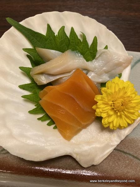 appetizer at Hotel Jogakura in Amori, Japan