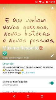 Máximo Respeito- Grupo zap amizade